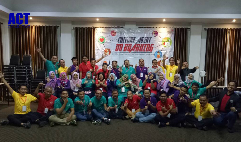 ACT Consulting | Training Telkom Group | Training Change Agent Boarding | budaya organisasi | pelatihan motivasi karyawan | training motivasi karyawan