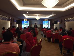 training building corporate culture commitment, pt sarana multigriya finance, act consulting, bram wibisono