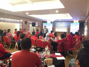 training building corporate culture commitment, pt sarana multigriya finance, act consulting, bram wibisono
