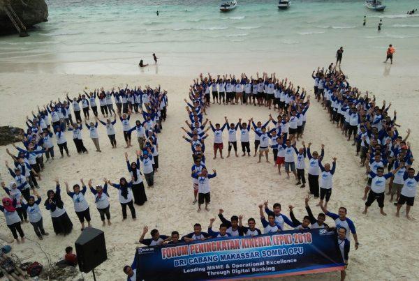 Outbound Training Team Building BRI Makassar
