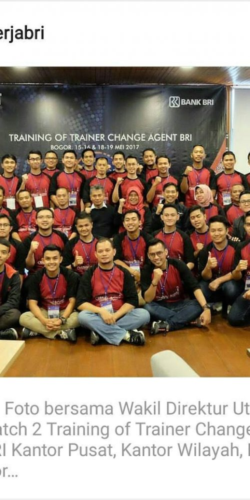 Training of Trainer Change Agent BRI