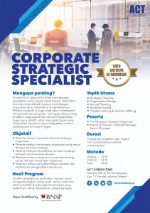 corporate strategic specialist, strategy specialist, act consulting, ary ginanjar agustian