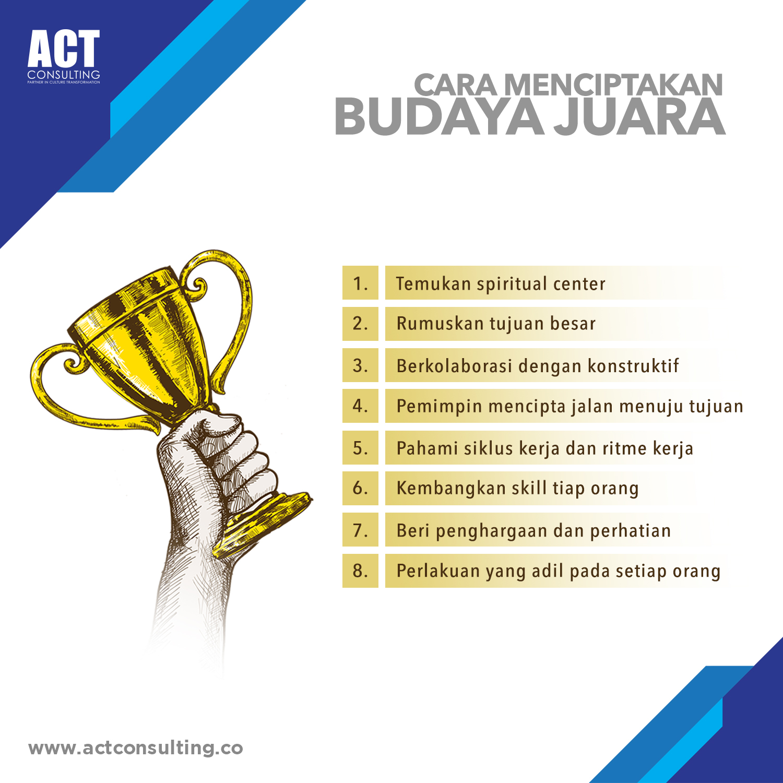 Cara Menciptakan Budaya Juara, act consulting, corporate culture