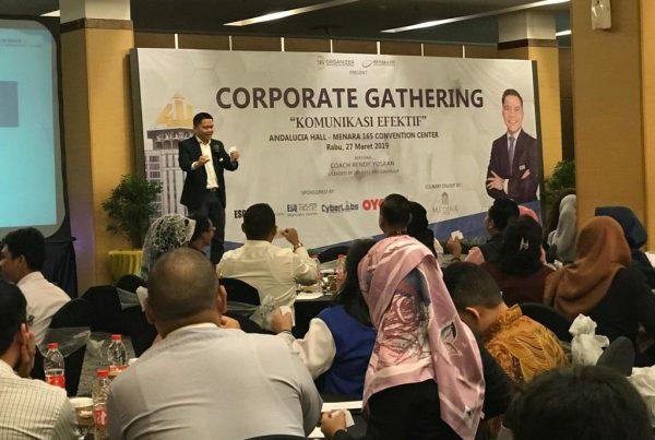 corporate gathering, training komunikasi efektif, act consulting, menara 165