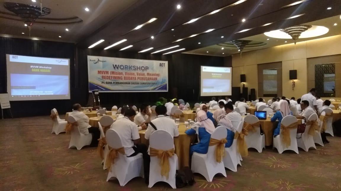 mvvm workshop, mission vision values meaning, bank nagari, bank pembangunan daerah sumatera barat, act consulting