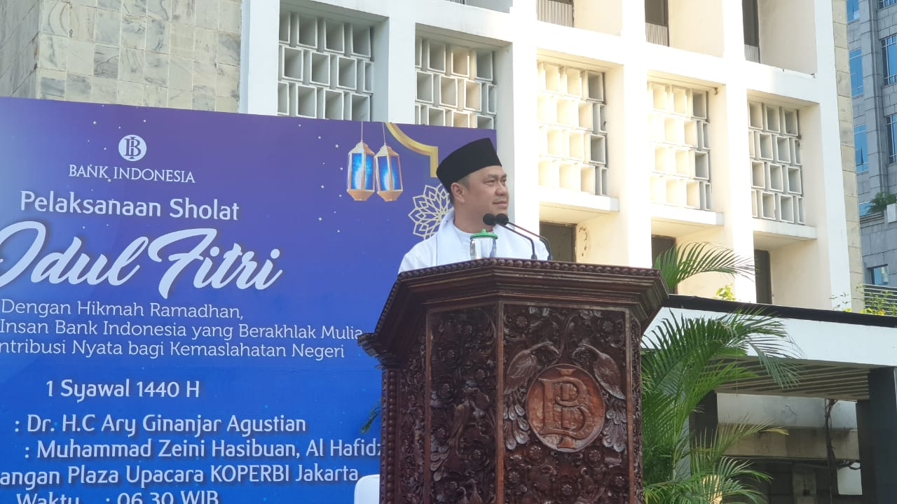 khutbah idul fitri masjid bank indonesia, dr hc ary ginanjar agustian, esq training, act consulting